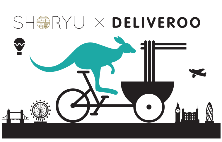 Shoryu, a very popular noodle bar advertising for Deliveroo